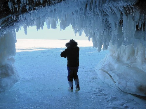 Big freeze means changed landscape on Great Lakes