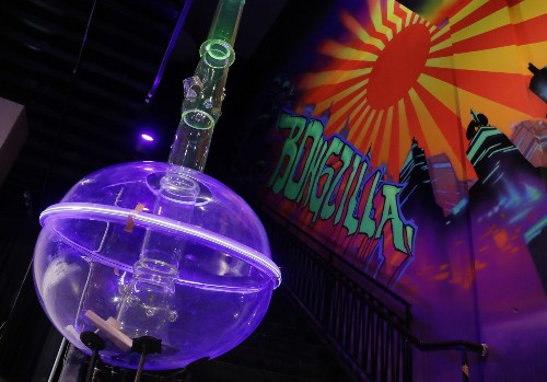 Vegas' salute to the cannabis culture: A 24-foot-long, fully functional bong