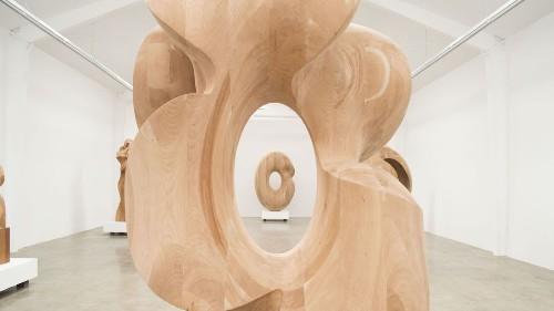 Douglas Tausik Ryder's curious wood sculptures at Jason Vass Gallery