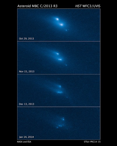 Found: Mysterious asteroid falling apart at a rate of 1 mile per hour - Los Angeles Times