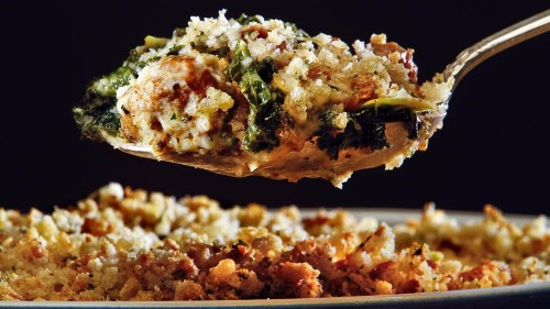 Try this Italian sausage and kale gratin recipe for dinner tonight