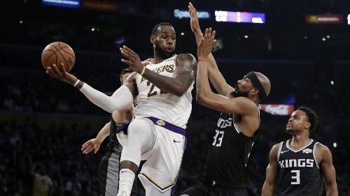 LeBron James' triple-double against Kings helps Lakers end five-game losing streak