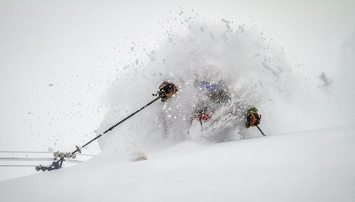It's a powder party at ski resorts from Mammoth to North Lake Tahoe