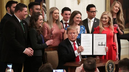 Trump's executive order on college free speech is unconstitutional