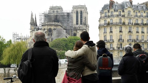 For travelers, Notre Dame remains the heart of Paris after devastating fire