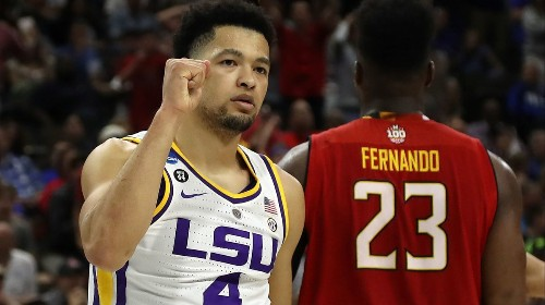 NCAA tournament: LSU is first team in Sweet 16 with last-second defeat of Maryland