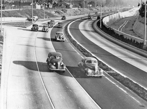 The freeway that looked like the future in 1940? Now, not so much. Nathan Masters on 'The Road Taken'