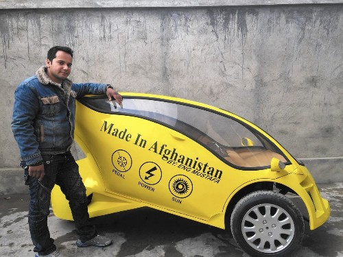 A solar-powered motorbike, to empower Afghans