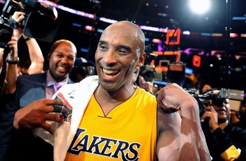 Celebrities at Kobe's last Lakers game