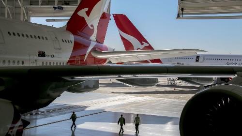 Qantas unveils $30-million hangar at LAX to hold the massive A380