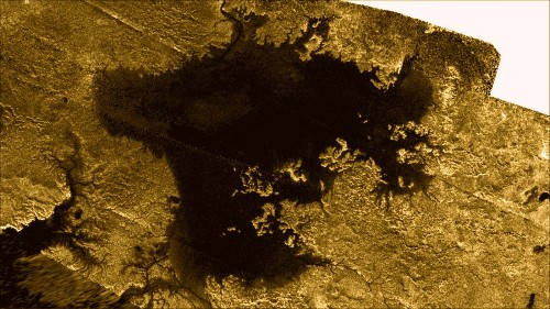'Magic Island' may show Titan's oceans are hardly pacific