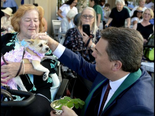 On the Town: Local pastor blesses some vital family members — pets
