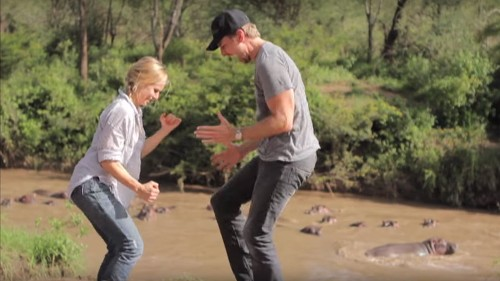 Kristen Bell, Dax Shepard parody 'Africa' music video on Africa vacation; Toto approves