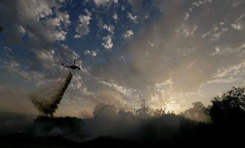 Brush fire in La Habra and Fullerton burns near homes, triggering evacuations