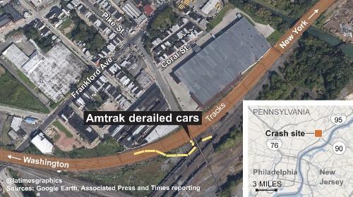 Amtrak derailment: Train was traveling 106 mph through curve; emergency brakes used