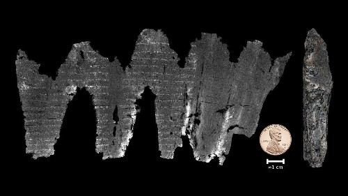 How scientists virtually unwrapped an ancient, burned scroll and read the words inside