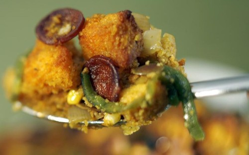 Thanksgiving recipe video and tips: Pumpkin seed stuffing with chorizo - Los Angeles Times