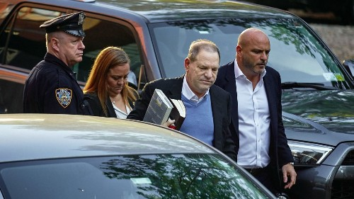 'We got you, Harvey Weinstein': Hollywood celebrates disgraced film mogul's arrest and surrender