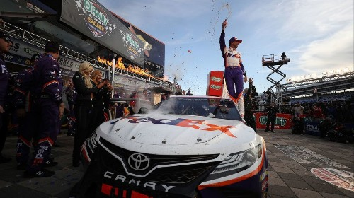 Denny Hamlin overcomes two pit penalties to win NASCAR race at Texas
