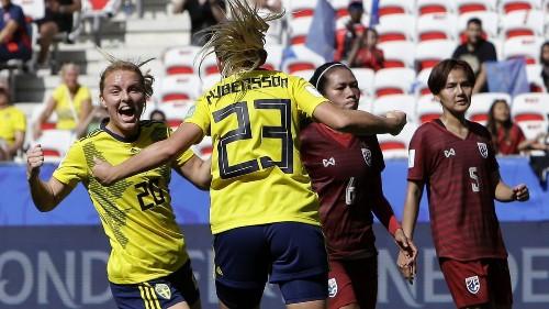 Women's World Cup: Sweden defeats Thailand, 5-1
