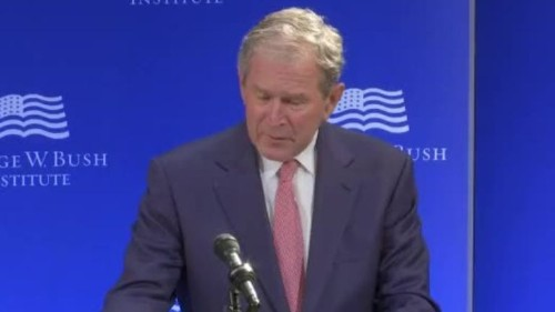 In stunning attack, George W. Bush rebukes Trump, suggesting he promotes falsehoods and prejudice - Los Angeles Times