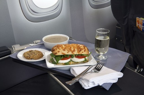 Airline spending on food continues to drop