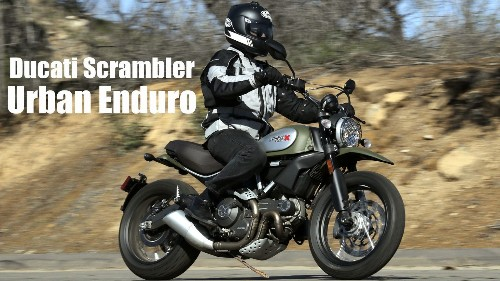 Ducati Scrambler Urban Enduro excels on pavement, not so much on dirt