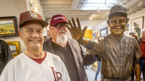 'Mr. Laguna' Skipper Carrillo has a 'home run day' as his statue is unveiled - Los Angeles Times