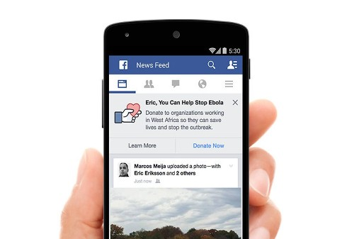 Facebook to encourage users to donate to Ebola fight