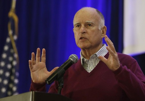 Gov. Jerry Brown thanks foot soldiers in conservation battle