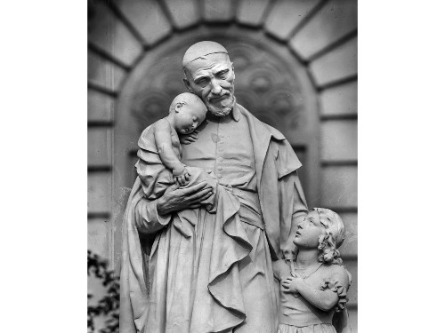 From the Archives: Statue of St. Vincent de Paul