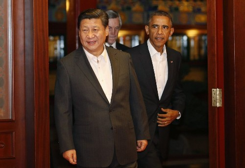 Obama, Chinese president try to show cooperation amid tensions