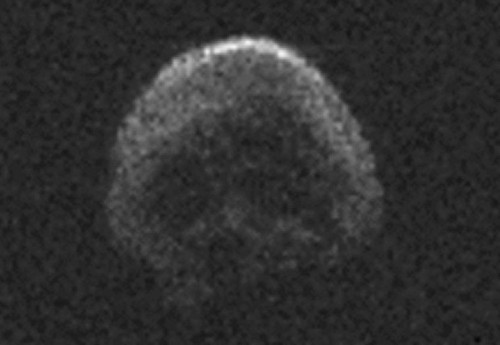Check out the skull-shaped comet flying past Earth today