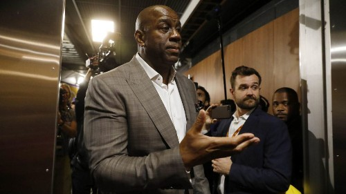 Magic Johnson is among Lakers fans applauding Anthony Davis trade
