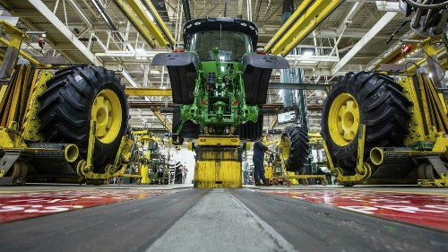Smart farming uses driverless tractors and weed-killing robots