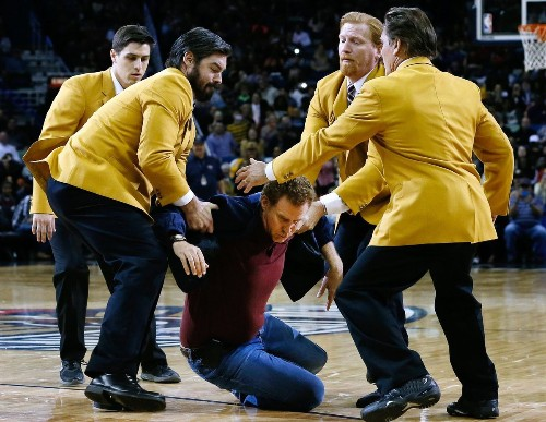 Why Will Ferrell hit a cheerleader in the head with a basketball