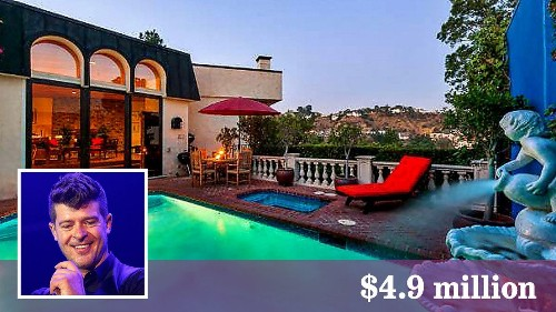 Robin Thicke gives up home in Hollywood Hills