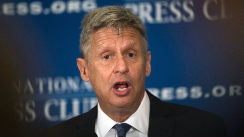 Possible presidential spoiler Gary Johnson speaks to The Times editorial board about siphoning votes from Hillary Clinton