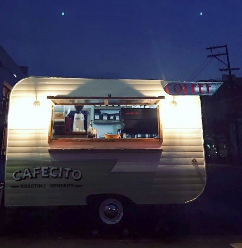 This retro camper is also an espresso stand