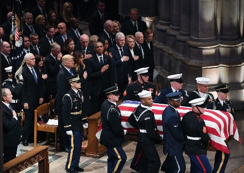 At the Bush funeral, respect and human emotion trump politics - Los Angeles Times