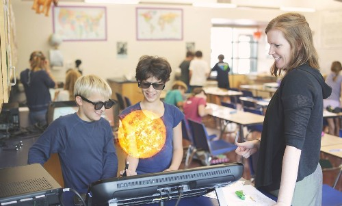ZSpace virtual reality system makes science class look like 'Iron Man' lab - Los Angeles Times