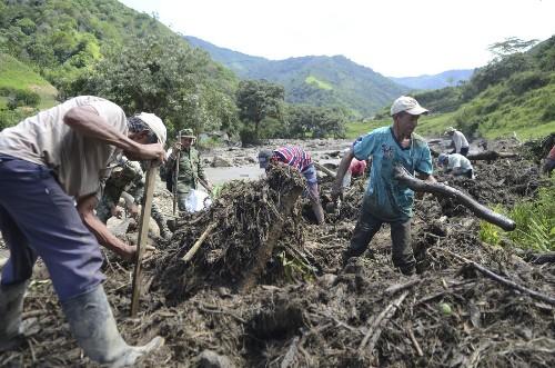 Dozens killed in Colombian town hit by flood, mudslide