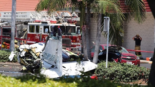 'It was so heartbreaking': Small plane crashes in Santa Ana parking lot, killing five aboard - Los Angeles Times