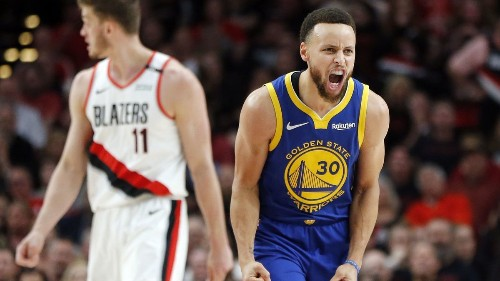 Warriors rally in second half to beat Trail Blazers for a 3-0 series lead