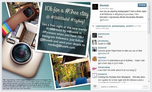 Got 10,000 Instagram followers? A Sydney hotel will let you stay free