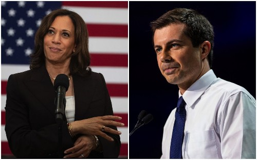 A surging Harris lags in fundraising, while Buttigieg leads the Democratic pack