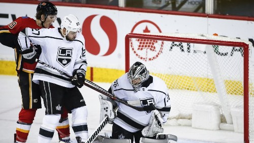 Jack Campbell records second shutout, Kings beat Flames 3-0