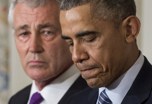 Hagel's exit from Pentagon still leaves administration divided