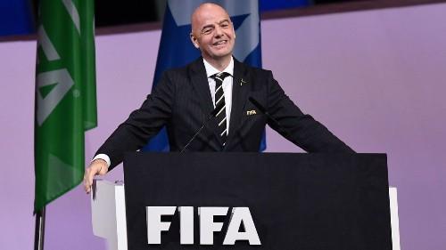 FIFA president pledges $500 million in support of advancing women's soccer