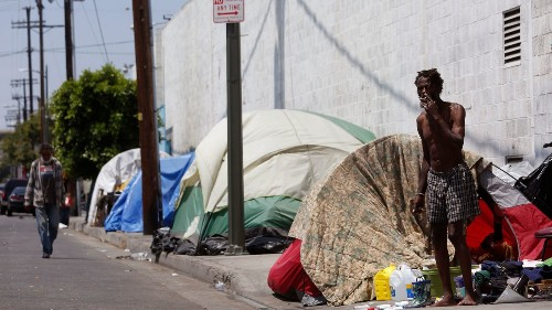 L.A. has 46,874 people who are homeless. If we're not smart, we'll have 250,000 more